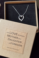 Mother Daughter Forever Heart Necklace